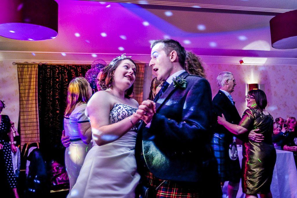 Wedding photography: couple dancing