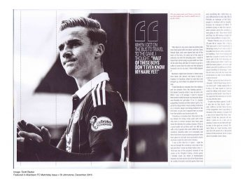 Red Matchday Programme - Editorial Photography Aberdeen