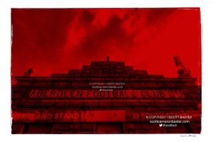 Scott Baxter Prints. Aberdeen FC, Pittodrie Stadium for the Red on Red series by Scott Baxter.