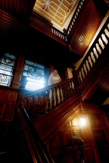 Ardoe House Wedding Photograph on Stairwell