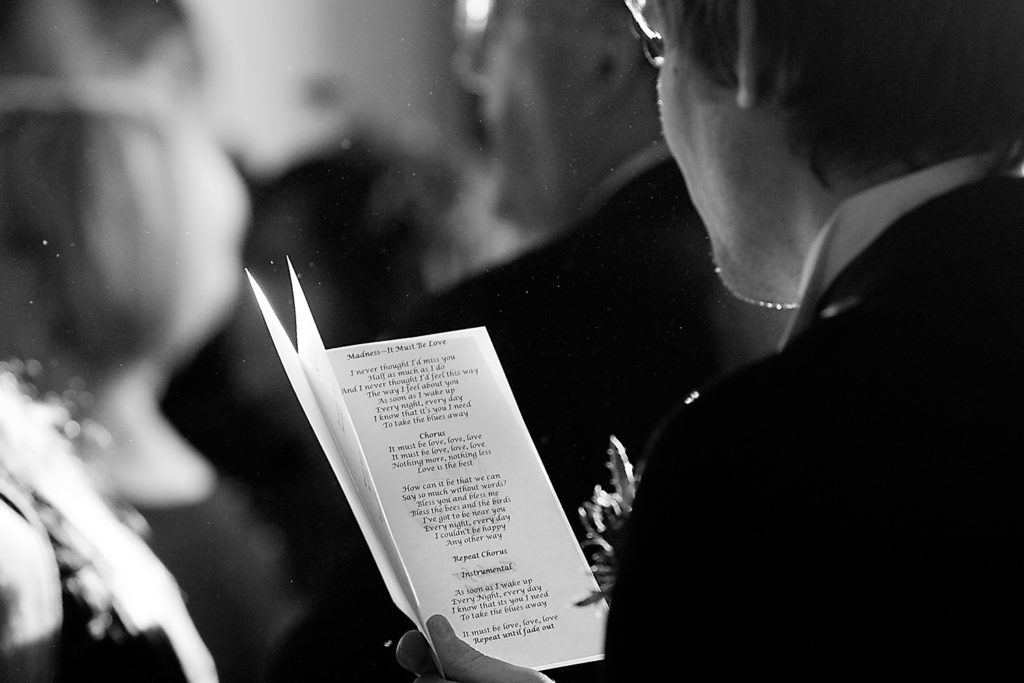 A song by the madness is a song being sung during a wedding ceremony in scotland