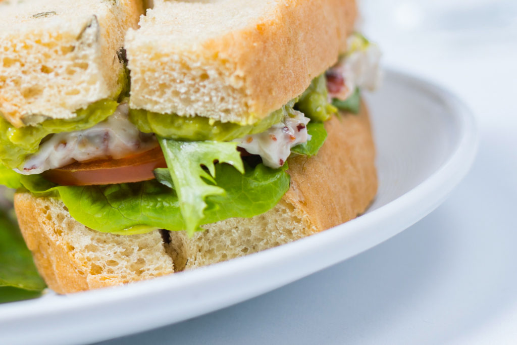 food and drink photography. Close up photo of a sandwich on a plate