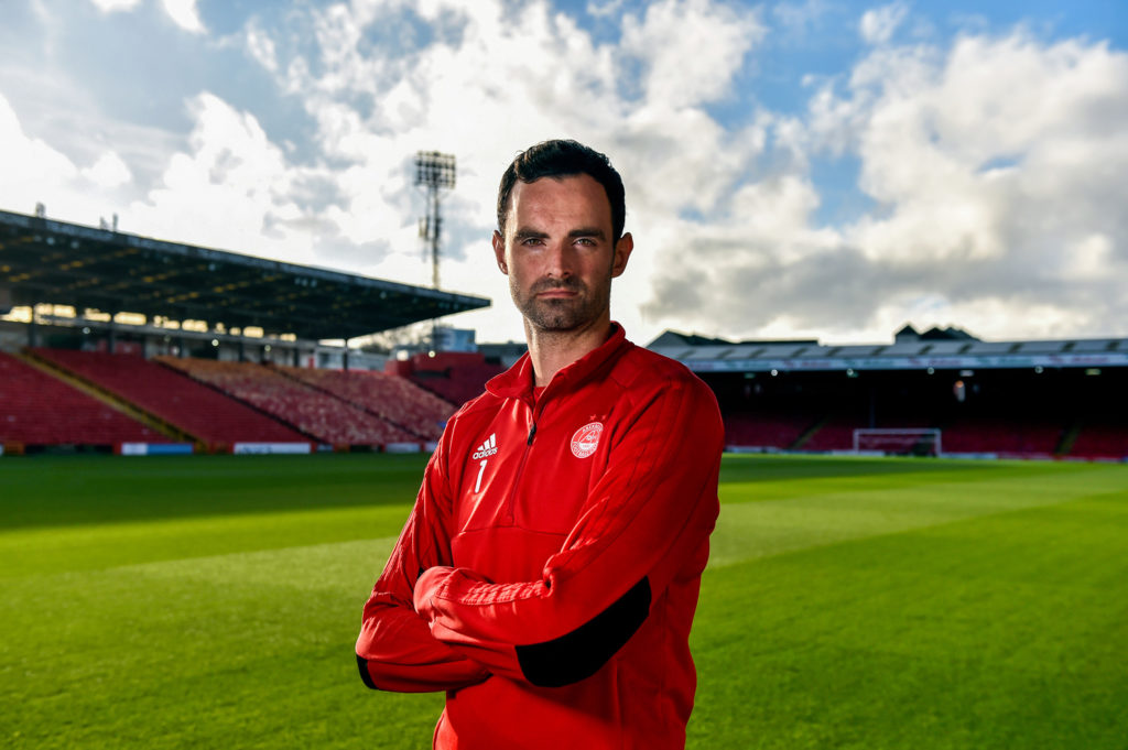 Joe Lewis - of Aberdeen FC poses for a press picture at Pittodrie Stadium
