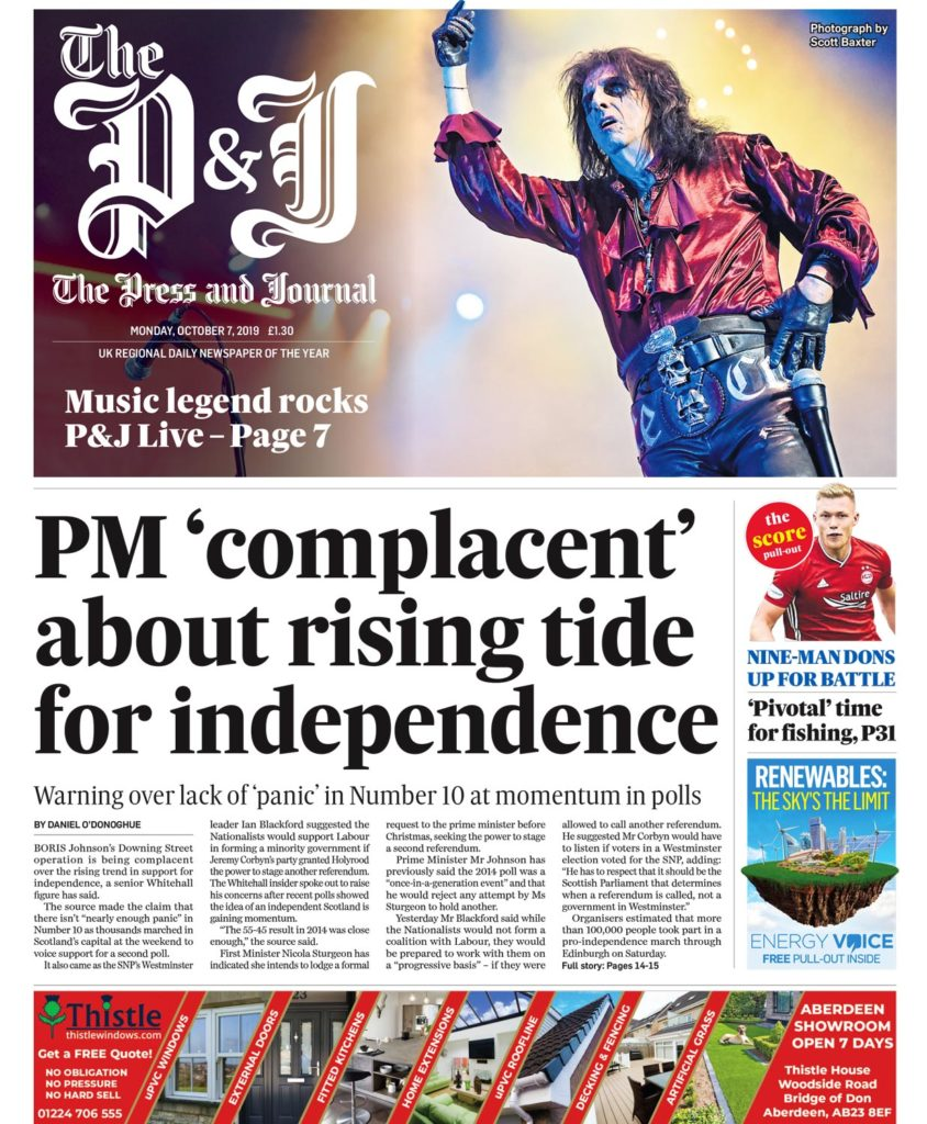 Editorial Photography Aberdeen - A front page picture of Alice Cooper performing at the TECA Aberdeen by Scott Cameron Baxter